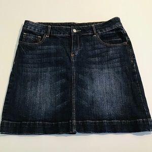 Girls Blue Denim Short Skirt Womens size 14